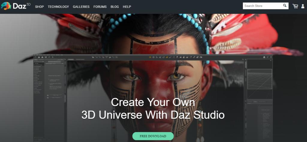 Daz3D Animation Software