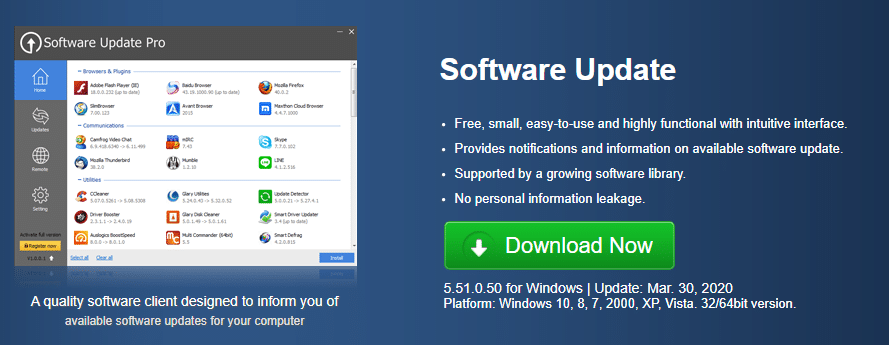 Glarysoft Software Updater