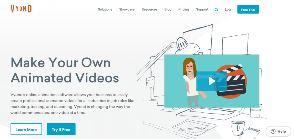 Vyond is an online animation making software